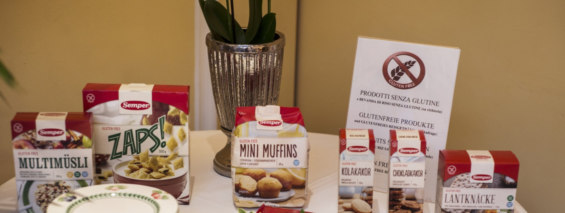 Gluten free products at the International au Lac Historic Lakeside Hotel