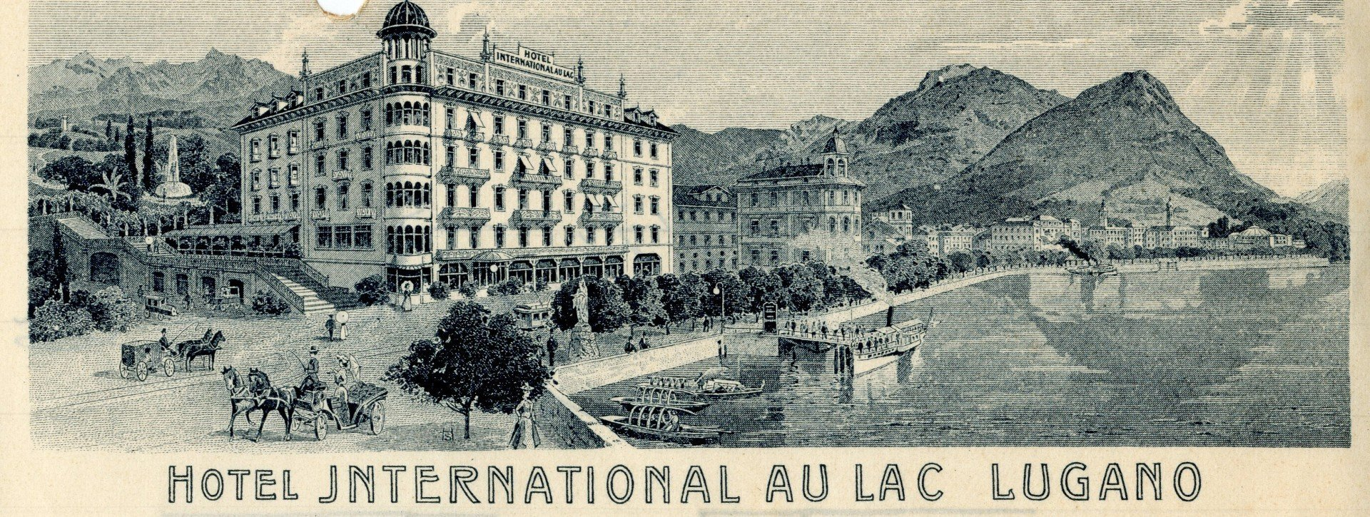 Historisches Bild des Hotel International au Lac Lugano