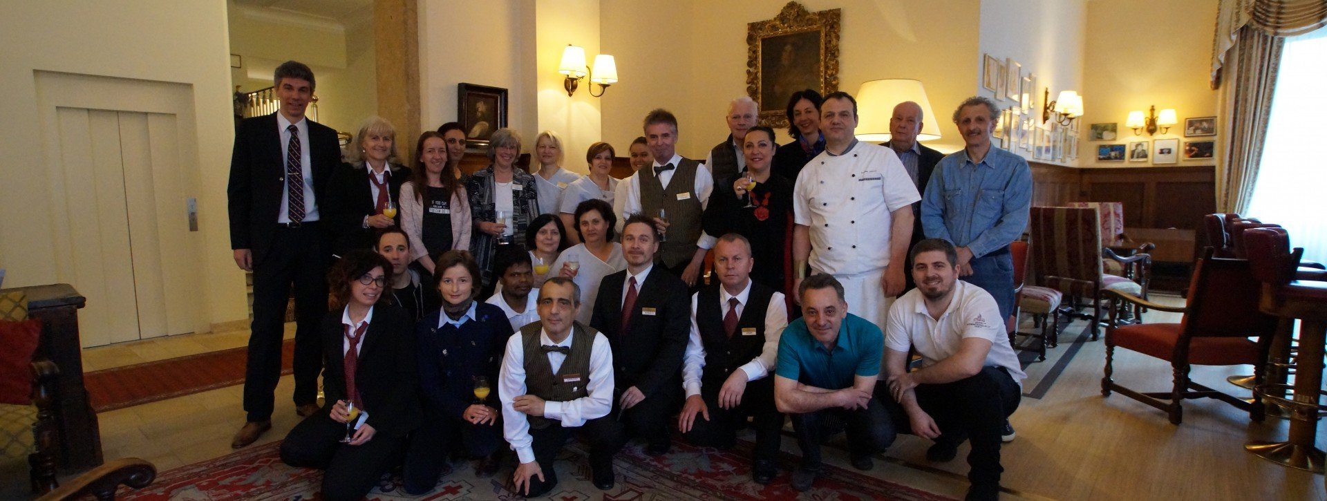 The team of the International au Lac Historic Lakeside Hotel