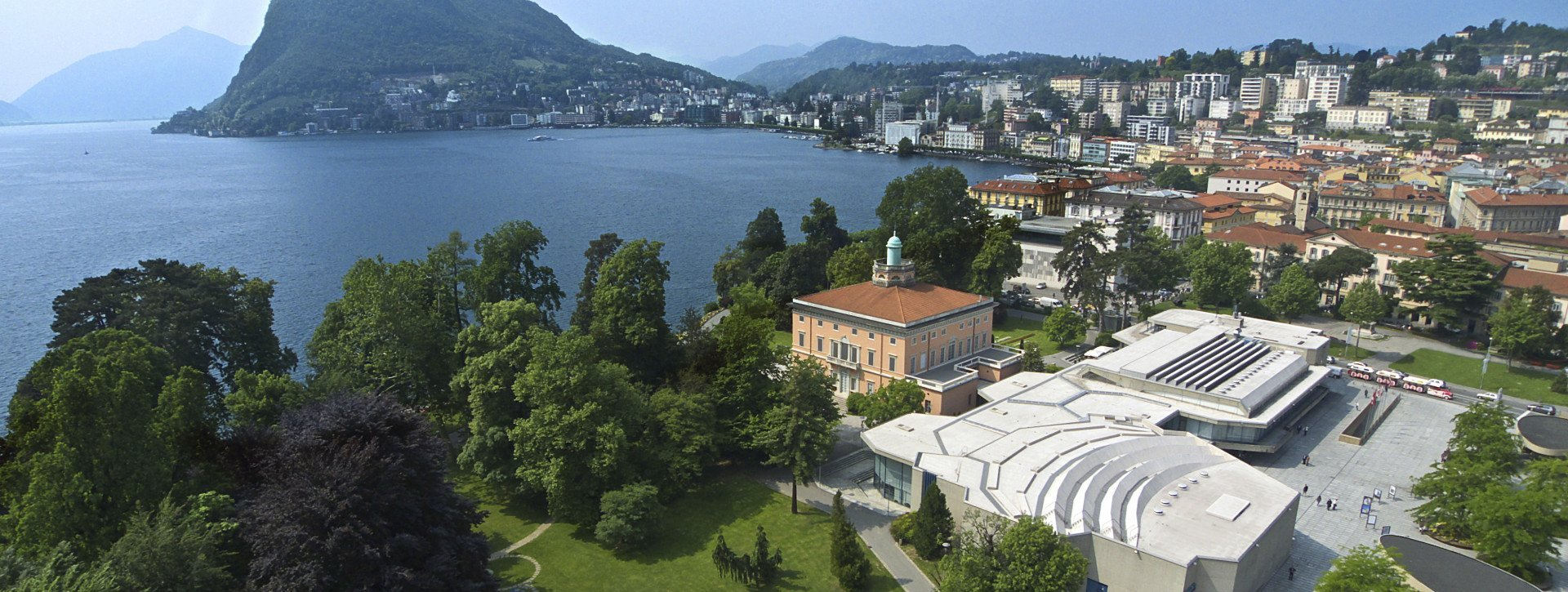 The Convention Centre Lugano is placed at the Lugano Lake