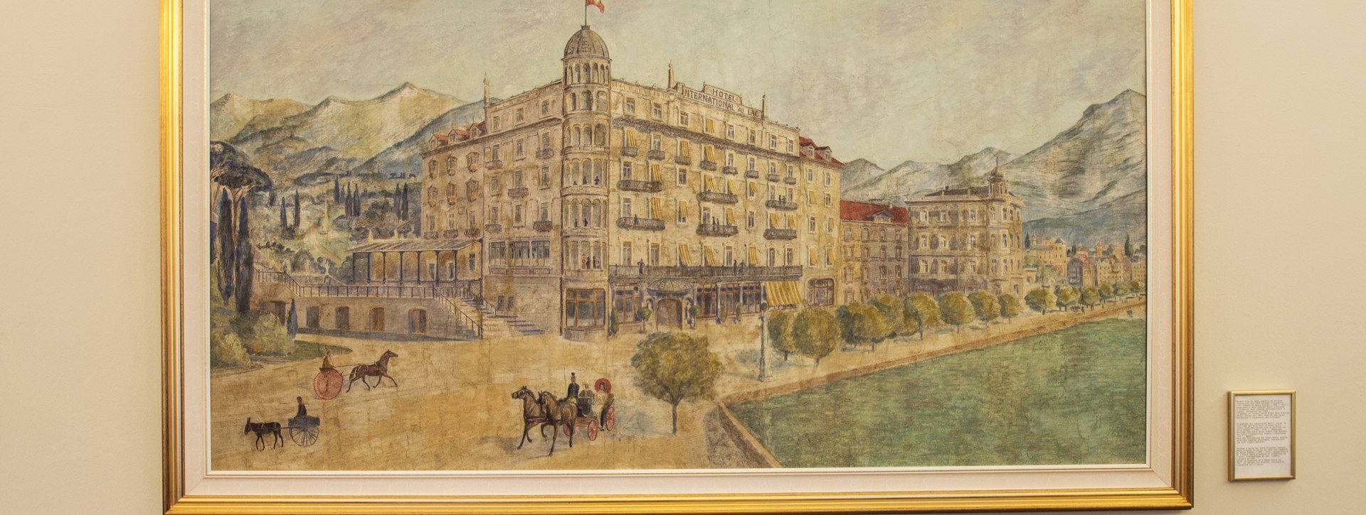 Painting of the hotel building