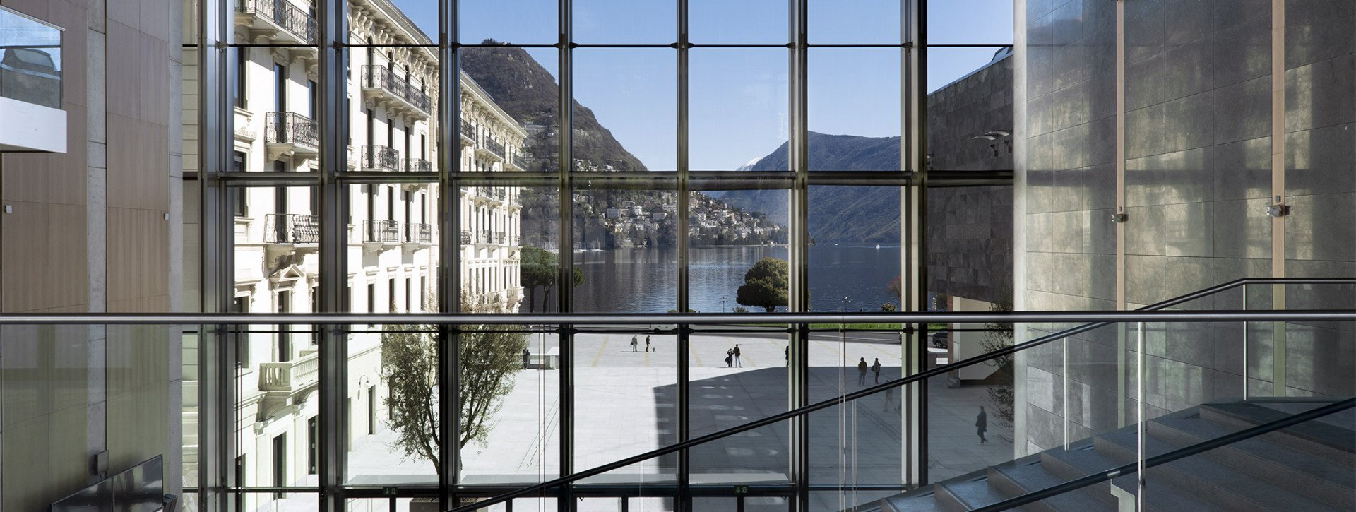 The Hall of the Lugano Arte e Cultura museum