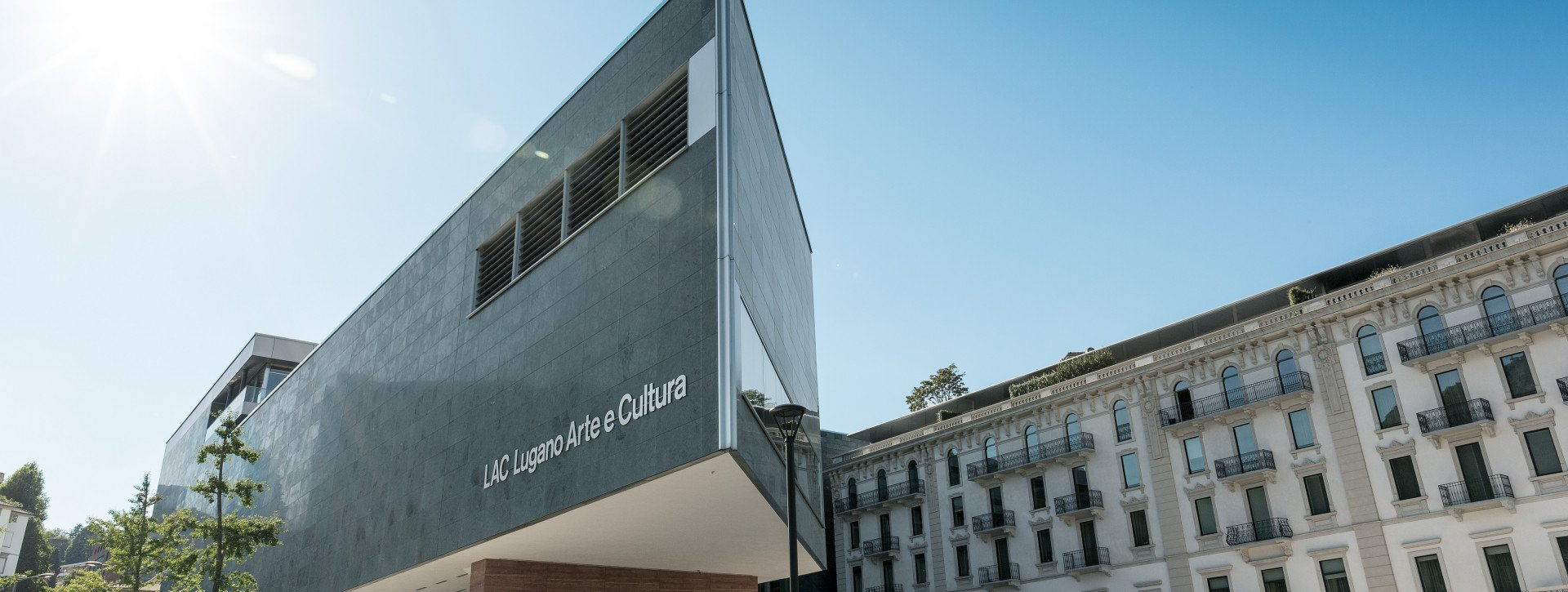 The building of the Lugano Arte e Cultura museum
