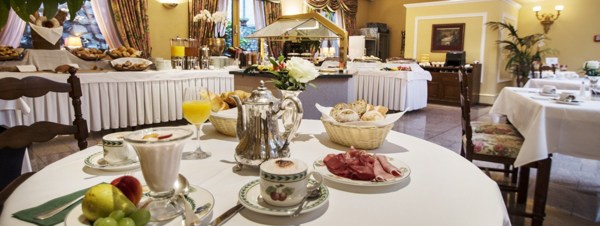 Breakfast buffet till 11:30 at the International au Lac Historic Lakeside Hotel